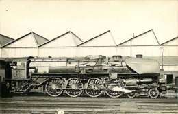 050819A - PHOTO VILAIN - TRANSPORT TRAIN CHEMIN DE FER - Loco Train 241A32 LA VILLETTE - Estaciones Con Trenes