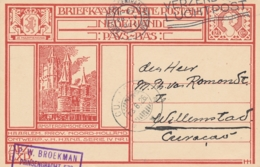 Nederland - 1926 - 12,5 Cent Briefkaart G199g Van Amsterdam Naar Curacao - Entiers Postaux