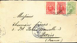 COLOMBIE COVER 1907 TO PARIS - Colombie
