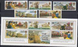 Guernsey 1993 Castle Cornet 5v + M/s ** Mnh (44032) - Guernsey