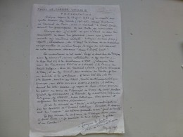 Biographie Autographe De Mgr Le Cordier, évêque St-Denis, Pour Fonds Le Cordier Vatican II, TOP, Ref 467 ; PAP05 - Autographes