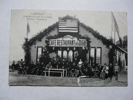 CPA  50 MANCHE - CARTERET : Café Restaurant De La Digue  (Maison Ventrillon) - Scène Animée - Carentan