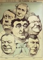 DESSIN-GILL ANDRE-LEONCE PRADEAU BARON DUPUIS BERTHELIER COQUELIN(THEATRE)-1878-D110 - Vieux Papiers
