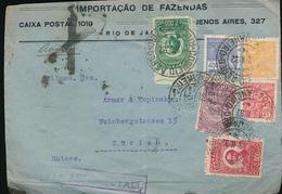BRAZIL AIR COVER 1932 TO SWITZERLAND - Brasile