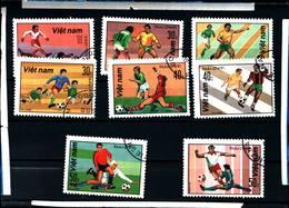6434B)  Vietnam 1982 Calcio Football Soccer Futbol Sport  8 VAL -SERIE  -USATA - Vietnam