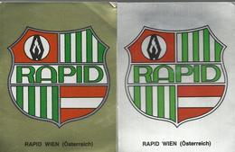 2 Autocollants - Panini - Rapid Wien (Osterreich) - Panini