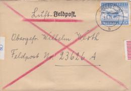 German Feldpost WW2: Airmail To Stab I Sicherungs-Regiment 610 FP 23626A P/m Krefeld 23.6.1944 - Letter Inside (G101-24) - 2. Weltkrieg