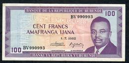 BURUNDI P29b 100 FRANCS  1982 #BV     VF - Burundi