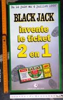 FDJ - F.D.J. Fdj ANNÉE 1999 FRANÇAISE DES JEUX PUBLICITÉ 2 VOLETS 20X35cm BLACK JACK POUR DÉTAILLANTS - SITE Serbon63 - Pubblicitari