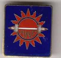 Enamel Pin Badge  Asia Asian Weightlifting Association Federation, Damaged Needle - Gewichtheben