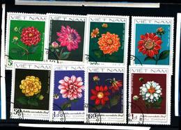 6436B) Vietnam 1982 Dahlia Flowers Plants Nature - 8 VAL -SERIE  -USATA - Vietnam