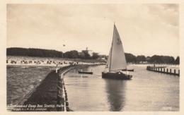AK - Polen Ostseebad DEEP (Dźwirzyno) Bez. Stettin - Hafen Mit Segelboot 1930 - Polen