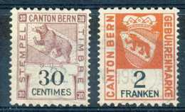 [802066]TB//O/Used-Suisse, Timbres Fisbaux, Ours, 30c Et 2F - Fiscale Zegels
