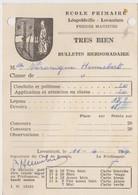 Léopoldville, école Primaire, Lovanium. - Diplômes & Bulletins Scolaires