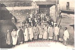 ES LLIVIA - Brun 6 - Procession Du Jeudi Saint Dans La Cour Du Sacré Coeur - Animée - Belle - Gerona