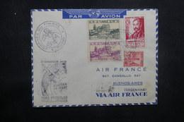 TUNISIE - Enveloppe De La Journée Du Timbre De Tunis En 1948 Pour Buenos Aires, Affranchissement Plaisant - L 37501 - Tunisie (1888-1955)