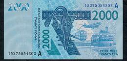 W.A.S. IVORY COST P116Ao  2000 FRANCS (20)15 2015 Signature 41  UNC. - West African States