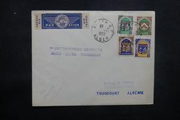 ALGÉRIE - Enveloppe 1er Vol Alger / Biskra / Toggourt En 1952, Affranchissement Plaisant - L 37502 - Algeria (1924-1962)