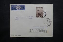 ALGÉRIE - Enveloppe 1er Vol Alger / Biskra / Toggourt En 1952, Affranchissement Plaisant - L 37503 - Algeria (1924-1962)