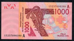 W.A.S. IVORY COST P115Ao  1000 FRANCS (20)15 2015 Signature 41  UNC. - West-Afrikaanse Staten