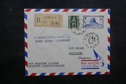 ALGÉRIE - Enveloppe 1er Vol Alger / Biskra / Toggourt En 1952, Affranchissement Plaisant - L 37504 - Algeria (1924-1962)