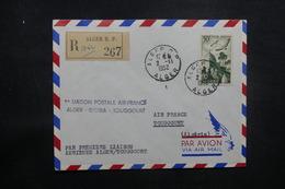 ALGÉRIE - Enveloppe 1er Vol Alger / Biskra / Toggourt En 1952, Affranchissement Plaisant - L 37505 - Algeria (1924-1962)