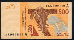 W.A.S. IVORY COST P115Ao  500 FRANCS (20)14 2014 Signature 40  UNC. - Estados De Africa Occidental