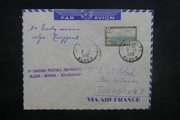 ALGÉRIE - Enveloppe 1er Vol Alger / Biskra / Touggourt En 1952, Affranchissement Plaisant - L 37511 - Algeria (1924-1962)