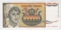 Yugoslavia 100000 100.000 Dinara 1993 (6) P-118 /010B/ - Jugoslawien
