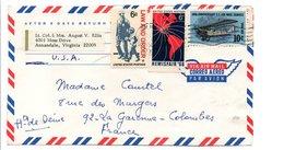 USA LETTRE POUR LA FRANCE 1968 - Estados Unidos