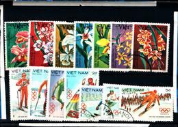 6439B) LOTTO DI FRANCOBOLLI DEL Vietnam GiocHI OLIMPICI INVERNALI-ORCHIDEE  -SERIE  -USATE - Vietnam
