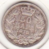 Serbie . 50 Para 1915. Peter I , En Argent . KM# 24.2 - Serbie