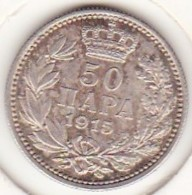 Serbie . 50 Para 1915. Peter I , En Argent . KM# 24.2 - Serbia