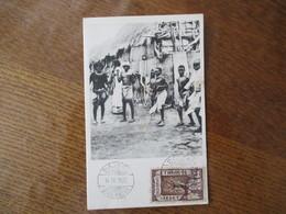 CARTE POSTALE CACHET DIRE-DAOUA 14 IX. 1925 TIMBRE 1/8 GUERCHE - Ethiopia