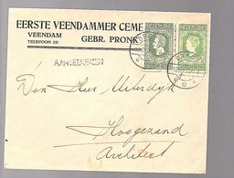 R-52,5 Cents Gebr. Pronk Eerste Veendammer Cement Veendam (FD-12) - 1891-1948 (Wilhelmine)