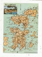 Cp , Carte Géographique ,  22 , ILE DE BREHAT,  Vierge - Maps