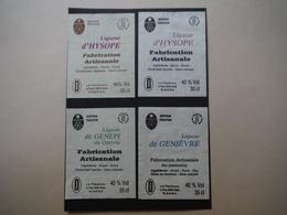 Liqueurs Du Queyras X4 : Génépi, Genièvre Et Hysope - Le Plantivore à Le Roux Abriès - Labels