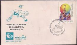 Argentina - 1990 - Championnat Du Monde De Basketball - Pallacanestro