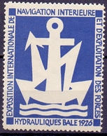 CINDERELLA  NAVIGATION INTERIEURE EXPOSITION INTERNATIONAL 1926 (GIUGN19C0006) - Erinnofilia