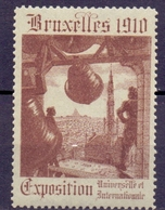 CINDERELLA   BRUXELLES EXPOSITION UNIVERSAL 1910  SET COLLECTION 8 PIECES  (GIUGN19C0006) - Erinnofilia
