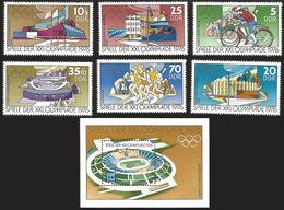 V) 1976 GERMAN DEMOCRATIC REPUBLIC, 21ST OLYMPIC GAMES, MONTREAL, CANADA, MNH - [6] Democratic Republic