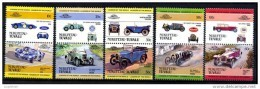 F3213- Set MNH NUKUFETAU TUVALU 1985, AUTOMOBILES- CARS - Auto's