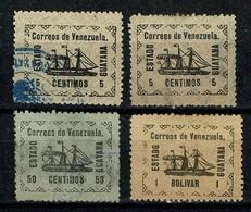 Venezuela 1903 Yv. 2 X 87, 90, 91 (2 Scans) - Venezuela