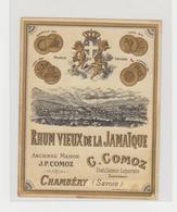 ET  008 /  RHUM  VIEUX DE LA JAMAIQUE  / Par : C . COMOZ  , CHAMBERY  ( 73 ) Savoie - Rhum