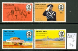 SWAZILAND - 203/6  Unabhängigkeit  Kpl.Ausg.postfr - Swaziland (1968-...)