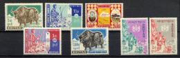 BHOUTHAN BHUTAN 1962, YAK, FACTEUR, ARCHER, CARTE, 7 Valeurs, Neufs / Mint. R161 - Bhoutan