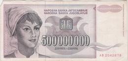 Yugoslavia 500000000 500.000.000 Dinara 1993 (6) P-125 /010B/ - Jugoslawien