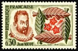 France N° 1286 ** Jean Nicot - Diplomate Et Philologue, Importateur Du Tabac - France