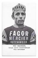 CARTE CYCLISME ROLF WOLFSHOHL SIGNEE TEAM FAGOR - MERCIER 1970 - Ciclismo