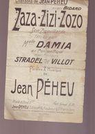 Partition Ancienne - Chansons De Preheu - Zaza Zizi Zozo / - Música & Instrumentos